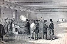 Breach Loaded Fire Arms Test 1867 LONG GUNS RIFLES City Arsenal Engraving Print