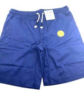 Size 10/12 Boys Shorts Plus Large Bermuda drawstring navy blue children kids