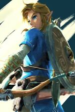 POSTER ZELDA BREATH OF THE WILD LEGEND OF GAME VIDEOGAME LINK EPONA FOTO #8