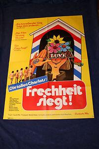 original Kino Plakat - Die tollen Charlots - Frechheit siegt ! 1971 ! Komödie