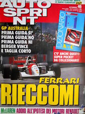 Autosprint 46 1992 Australia: Berger vince. McLaren: no ai motori Renault [Q104]
