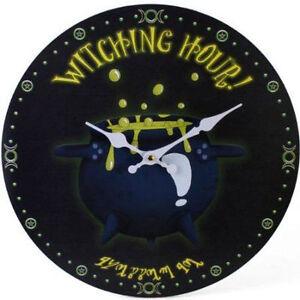 "Clock/Wall Clock ~ ""Witching Hour"" Clock ~ Fun/Novelty Clock ~  Miss Peculiar"