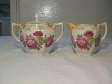 Old Eleanor Bavaria Creamer & Sugar - Pink Roses