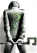 Arkham Asylum RIDDLER Black & White w Green Pin Up Print DC Batman
