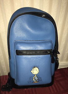 NWT Coach X Peanuts West Pack With Pig Pen C4151