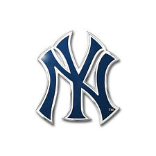 New MLB New York Yankees Car Truck Auto 3-D Aluminum Color Emblem Sticker Decal