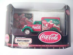 Matchbox 1:32 scale 1937 Dodge Airflow truck, Coca-Cola Christmas theme, 1999