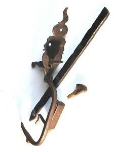 Clenche ancienne complète fer forgé serrure porte verrou poignée XVIIIe XIXe