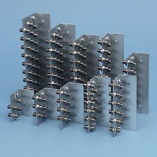 10 fach F - Erdungsblock Clas A++ Erdungsschiene Erdungswinkel Blitzschutz