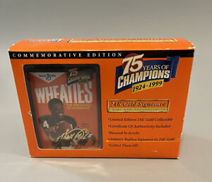 Mini Wheaties Box - 75 Years of Champions - 24K Gold Signature - Walter Payton