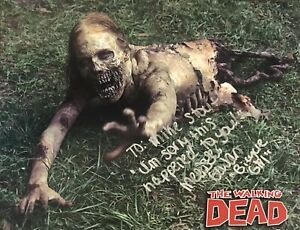 MELISSA COWAN Signed 8x10 Photo.BICYCLE GIRL on THE WALKING DEAD + SIGNED LETTER