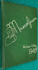 Very Rare 1946 Muscoljuan Muskingum College Yearbook Year Book New Concord OH