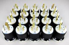 * Lot of 20 *  HBL2621 - Hubbell 2P3W 30A 250V AC L6-30P Twist-Lock Male Plugs
