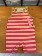 Gorgeous Pink Striped Summer Babygrow by Toby Tiger 0-6 Months