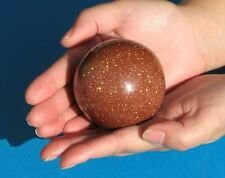 Large Goldstone Gold Stone Crystal Ball   500g  70mm  (GSTB1)