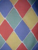 New Laura Ashley Twin Duvet Cover Harlequin Diamond Geometric Cotton Blend USA