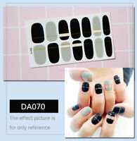 14Pcs New Women's Chic French Style DIY Manicure Art Tips Fake Nails with Glue