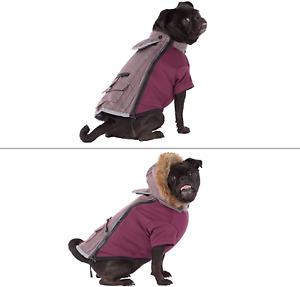 TOP PAW Reflective Dog Vest Coat Purple w/ Hood Size Small New