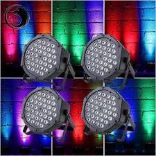 4PCS 72W 36LED RGB Stage Light Flat Par Lamp DMX512 Club Party Disco Show Light