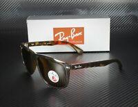 RAY BAN RB4147 710 57 Light Havana Crystal Brown Polarized 60mm Men's Sunglasses