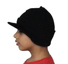 NEW BLACK MENS THERMAL KNITTED PEAK BEANIE CAP SKI HAT TRENDY DESIGNER LOOK SALE