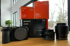 Sony Alpha a6600 24.2MP Mirrorless Camera w/ 20mm F2.8 & 50mm F1.8 Prime Lenses