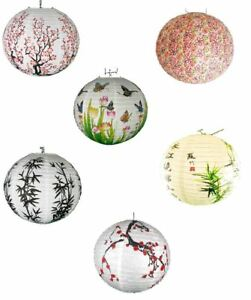 Traditional Chinese Oriental Paper Hanging Lanterns Lamp Shades