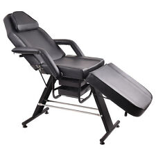 Adjustable Salon SPA Black Massage Bed Tattoo Chair Facial Table Beauty Basket