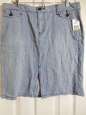 TOMMY HILFIGER Spirit Away Blue White Striped Cotton Skirt Size 14 NWT