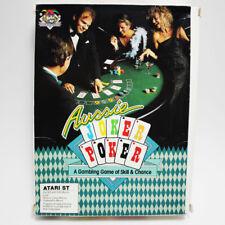 Aussie Joker Poker RARE Atari ST 540 / 1040 Game TESTED WORKING FREE FAST SHIP