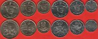 "Swaziland set of 6 coins: 10 cents - 5 emalangeni 2015 ""Mswati III"" UNC"