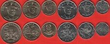 "Swaziland set of 6 coins: 10 cents - 5 emalangeni 2015 ""Mswati III"" UNC"