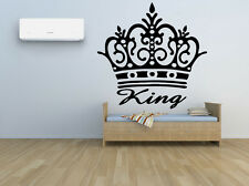 Wall Room Decor Vinyl Sticker Mural Decal Crown King Royal Prince Jewelry F2183