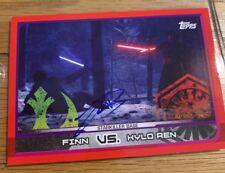 More details for starwars topps john boyega hand signed topps card autograph finn force awakens