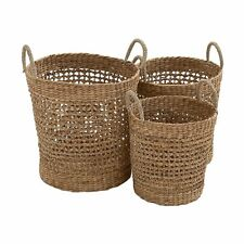 Woodland Imports 48974 Most Useful Seagrass Baskets (set of 3)