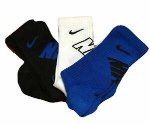 Nike Young Athletes LIGHTWEIGHT or CUSHIONED Crew Socks; 7C-10C, 10C-3Y, 3Y-5Y