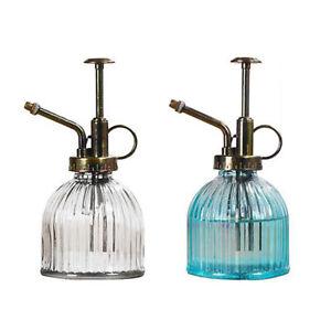 UK Glass Mister Clear Water Spray Bottle Garden Plant Watering Can Pot Sprayer T