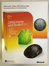 Office Home & Student 2010 32/64 Italian DVD New Retail Box x3 Users + Mouse