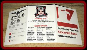 1979 CINCINNATI REDS EAGLE SAVINGS BASEBALL POCKET SCHEDULE EX+NM CONDITION