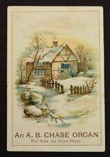 "Antique Victorian Trade Card AB Chase Organ SB Smith & Co 2.75"" x 4"""