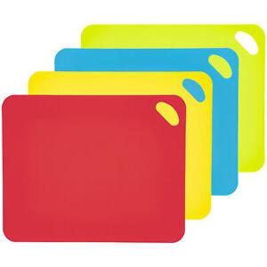 4 Tabla de Cortar Juego Multicolor Cocina Tapete Comida Preparación Accesorio