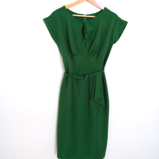 Timeless Green STOP STARING Sz LRG 12 Vintage Inspired Retro Sheath Midi Dress