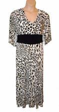 Animal Print Short Sleeve Plus Size Maxi Dresses for Women
