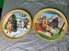 Ronald McDonald Plates - 1977 Vintage