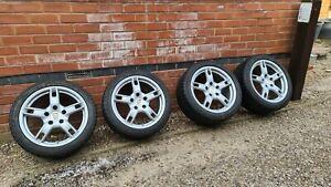 "Genuine Porsche 18"" Alloy Wheels Boxster 987 Cayman S Winter Tyres"