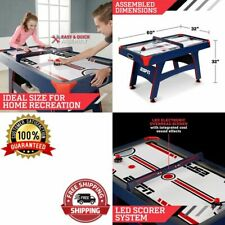 """Kids Hockey Table Home Game Air Powered Overhead Electronic Scorer Blue LED 60"""""""