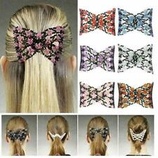 Magic Beads Elasticity Double Hair Comb Clip Stretchy Clips Hair Women Fav J5F2