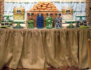 Burlap Table 6 Ft Cover Rustic Wedding Boho Indie Farmhouse