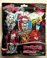 """MONSTER HIGH 100 Pcs PUZZLE On The GO! 9"""" x 10"""" Resealable Bag NEW!"""