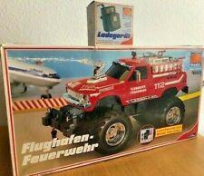Tronico RC Flughafen Feuerwehr Jeep Auto mit Seilwinde Wasserpumpe OVP Rarität !